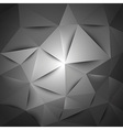 triangles gray vector image vector image