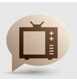 TV sign Brown gradient icon on vector image vector image