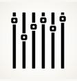 vertical sliders faders potentiometers symbol vector image vector image