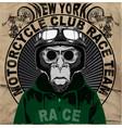 vintage motorcycle setskull riders motorbike set vector image vector image