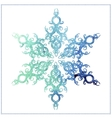 watercolor elegant snowflake on a white background vector image vector image