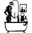 Woman in a bath vector image vector image