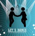 Dance design over blue background vector image