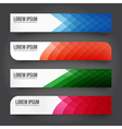Set of Colorful tag banner 002 vector image