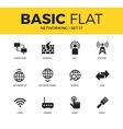 Basic set of Networking icons vector image