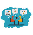 human resource interview icon vector image