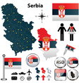 Map of Serbia vector image