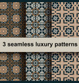 3 luxury patterns vector image vector image