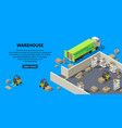 3d isometric site template - warehouse vector image