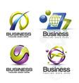 3d logo set vector image