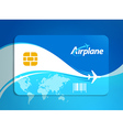 airplane flight tickets air fly sky blue travel vector image vector image
