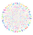 angel investment festival round cluster vector image vector image