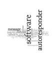 autoresponder software makes business easy vector image vector image
