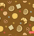 bakery produkts seamless pattern vector image vector image