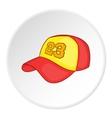 baseball hat icon cartoon style