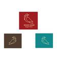bird logo brand outline with design background vector image vector image