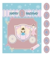 Birthday Baby Card vector image vector image