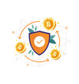 bitcoin protection concept vector image