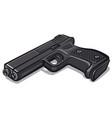 black metal handgun vector image