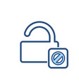 blocked dont lock open security icon vector image vector image