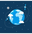 Blue Earth in space Modern Flat Design vector image vector image