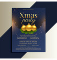 brilliant design of christmas flyer with golden vector image