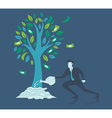 business concept growthbusinessman watering mon vector image