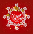 card snowflakes on red vector image vector image