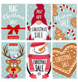 christmas sale card collection vector image vector image