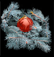 christmas tree toy on the branches vector image