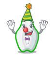 clown green papaya in the cartoon form vector image vector image