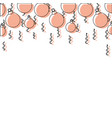 color garland with circle balls to christmas vector image