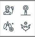 coronavirus line icons linear set quality line vector image vector image