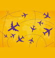 creative of plane with dashed vector image vector image