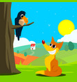 crow and fox fabl vector image