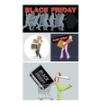 Digital set black friday sale vector image vector image