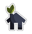 eco house isolated icon vector image vector image