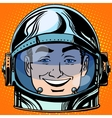emoticon joy laughter Emoji face man astronaut vector image vector image