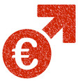 euro growth icon grunge watermark vector image vector image