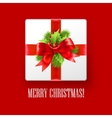 Gift box with Christmas decoration vector image vector image