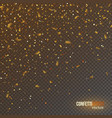 golden confetti glitters festive falling shiny vector image vector image