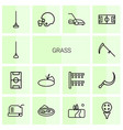 grass icons vector image vector image