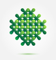Green symbol made of crosses - nice abstract vector image