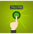 Hand pressing solution button vector image