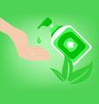 hand sanitizer bottle symbol for hygiene vector image vector image