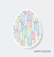 happy easter card circuit board pattern vector image vector image