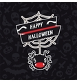 Happy Halloween Card with Spider vector image