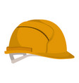 helmet side view colorful silhouette vector image