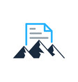 hiking document logo icon design vector image