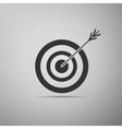 Icon target with dart isolated vector image vector image